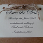 Cute Save the Date Cards with Rustic Twine Bow - Sample
