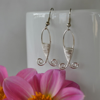 Fish wire wrapped earrings, jewellery, novelty earrings