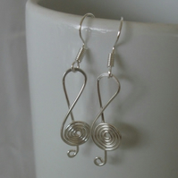 Clef Music Note Earrings, jewellery, novelty earrings
