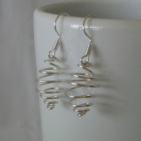 Beehive Earrings, jewellery, silver wire, wire wrapped jewellery