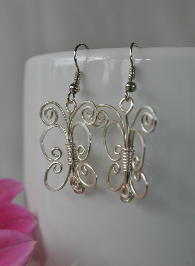 Silver Butterfly Earrings - jewellery