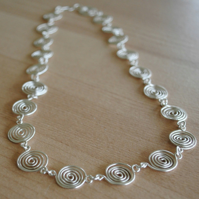 Silver Spiral Necklace FINE SILVER (open) jewellery