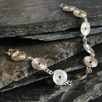 Spiral Bracelet in Sterling Silver, jewellery