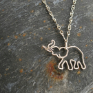 Elephant Pendant, necklace, jewellery, wire wrap, silver
