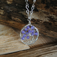 Tree of Life Pendant with Amethyst, jewellery, necklace