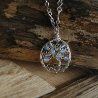 Tree of Life Pendant with Moonstone, jewellery, necklace