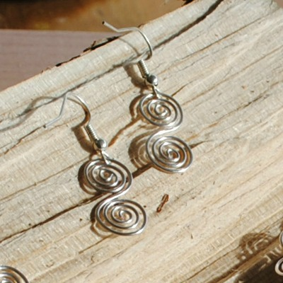 Earrings, Celtic Spiral Earrings, jewellery, silver