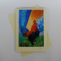 Cockerel Art Greeting Card by Mark Betson