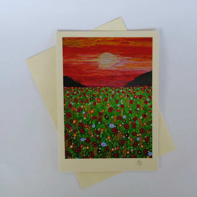 The Corn Field Art Greeting Card by Mark Betson