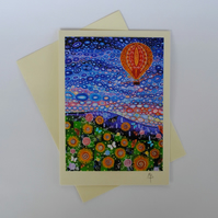 Hot Air Balloon Art Greeting Card by Mark Betson