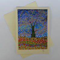 Tree of Life 16 Art Greeting Card by Mark Betson