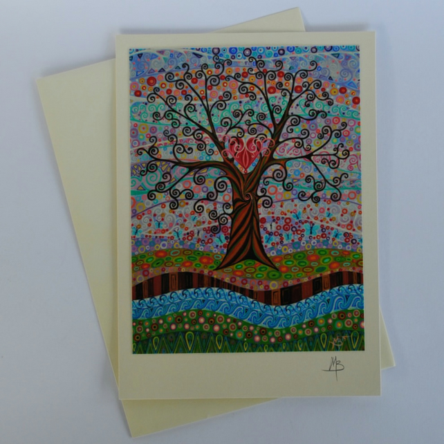 Card Tree of Life 19 Art Greeting Card by Mark Betson