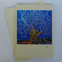 Cards, Tree of Life 22 Greeting Card by Mark Betson, art cards,any occasion card