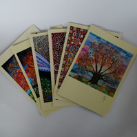 Set of 6 Art Greeting Cards by Mark Betson