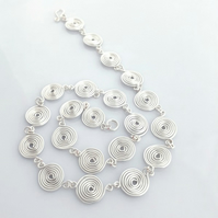 Necklace Silver Spiral FINE SILVER (closed) jewellery womens gifts