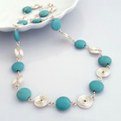 Turquoise and Silver Spiral Necklace jewellery for women Christmas gift ideas