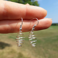 Silver Beehive Earrings jewellery Christmas stocking filler gifts hypoallergenic
