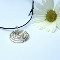 Silver spiral pendants necklaces Christmas gifts for her gifts for him gift