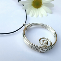 Layered silver spiral pendants pendant necklaces Christmas gifts for her