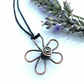 Flower Daisy copper pendants necklaces Christmas gift for her