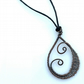 Wire wrapped spiral copper pendants necklaces Celtic Christmas gifts for her