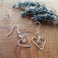 Silver Heart Earrings Christmas gifts for her ladies girls jewellery birthday