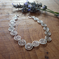 Celtic Silver Spiral Bracelet jewellery Christmas gift ideas for ladies