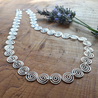 Celtic Silver Spiral Necklace jewellery Christmas gifts for her