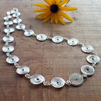 Necklaces Silver Spiral necklace sterling jewellery Christmas gift