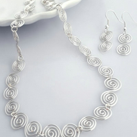 Celtic Spiral Necklace and Earrings jewellery sets Christmas gifts for her
