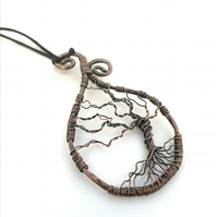 Wire Wrapped oxidised copper Tree of Life pendant copper jewellery gifts