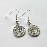 Chunky silver spiral earrings Christmas gifts for her jewellery for women