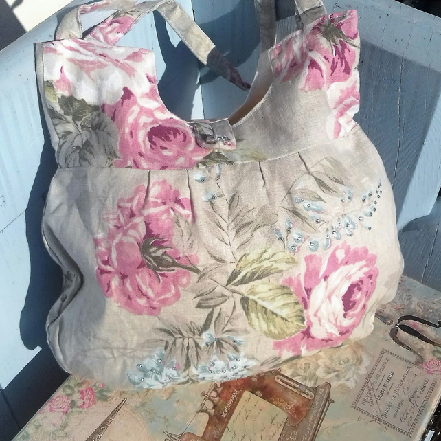 Pink Rose sparkle bag