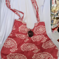 Terracotta Paisley Hobo Hand Bag