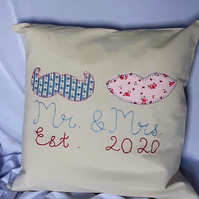 Mr & Mrs Wedding Celebration Cushion
