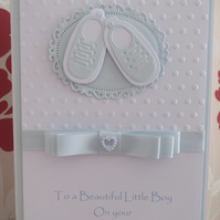 Boys Christening Card - Baptism - New Baby Keepsake