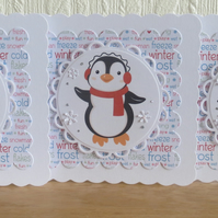Cute Penguin Christmas card set