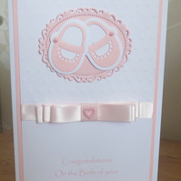 Unique New Arrival Baby  Girl Card