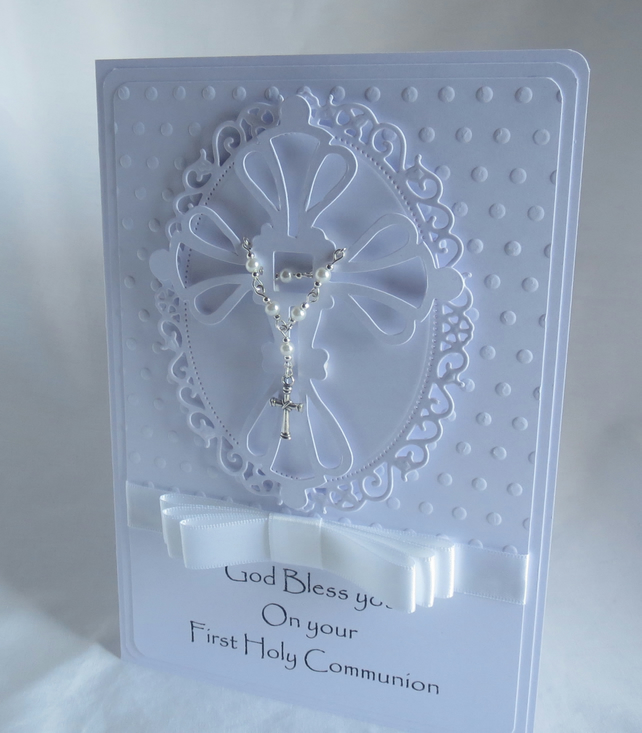 Luxury First Holy Communion Handmade Card Folksy