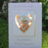 Engagement Congratulations Handmade card