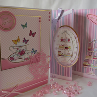Teatime Happy Birthday set of two cards