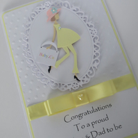 Parents to be Congratulations card