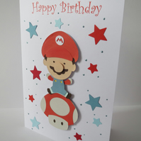 Super Mario Birthday card