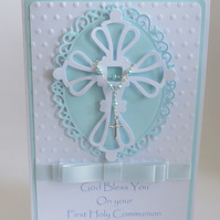 Luxury Boys First Holy Communion card