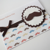 Fathers day moustache card