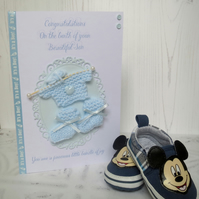 Baby Boy, New Baby Handcrafted card