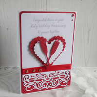 Luxury Ruby Wedding Anniversary card