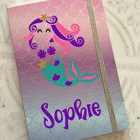 Personalised Holographic Mermaid notebook