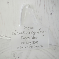 Christening Day Personalised Keepsake