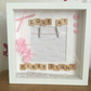 New Baby Girl Frame, Christening Gift, Nursery Keepsake